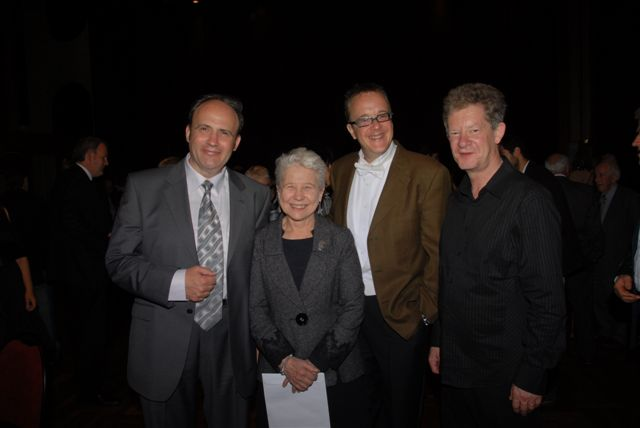 Boris Pigovat, Christine Pearce (General Manager of Vector Wellington Orchestra), Marc Taddei and Donald Maurice