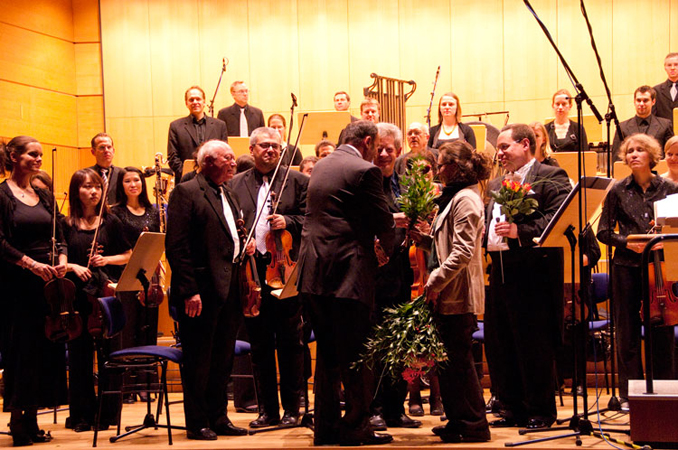 After performance of Requiem. Photo by Dwight Pounds